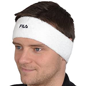 Fila Unisex Tennis Basketball Headband Sweatband - White - AX00194100 - NS