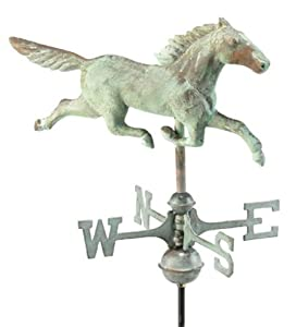 Good Directions 8801V1R Verde Copper Stallion Roof Mount Weathervane (Discontinued by Manufacturer)