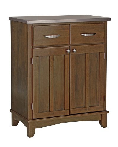 Cheap Server Sideboard with Stainless Steel Top in Cottage Oak Finish (VF_HY-5001-0063)