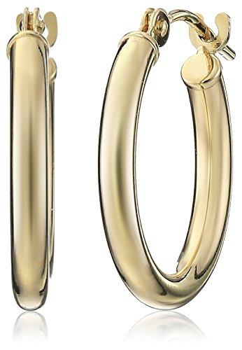14k Yellow Gold Hoop Earrings (0.6 Diameter)