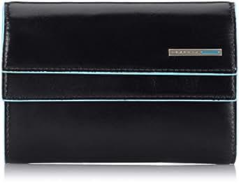 Piquadro pd1248b2 portafoglio collezione blu square nero for Piquadro amazon