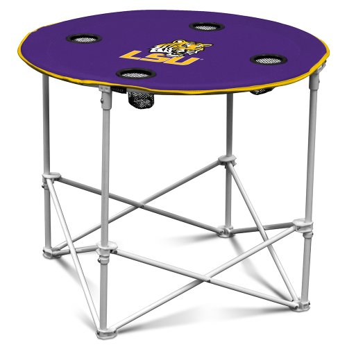 NCAA LSU Fighting Tigers Round Tailgating Table