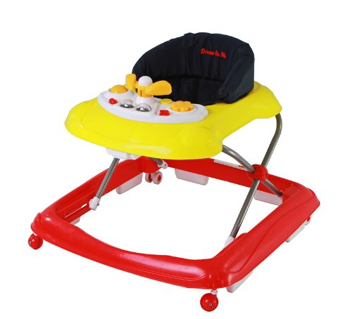 Dream On Me Scout Musical Walker and Activity Center, Red