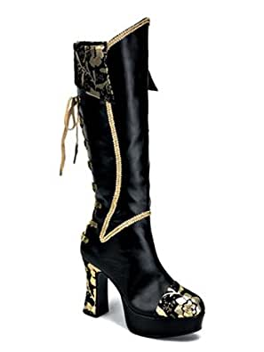 Elegant Womens Blowfish Walk On Pirate High Boot Exclusive Black Relax Pu