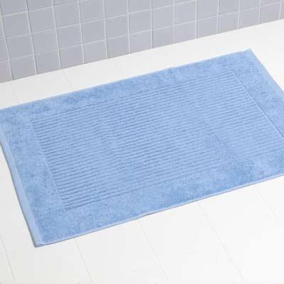 Tappeto da bagno 100 cotone turco blu chiaro l 80 cm x - Tappetini per bagno ...