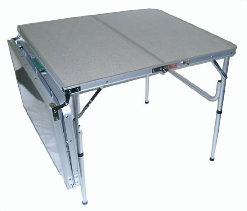 The original quatro four lightweight aluminum portable folding table 72 l or 36 l x 32 w x - Small lightweight folding table ...