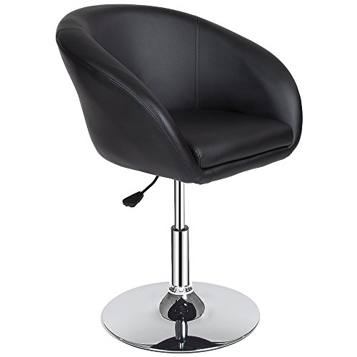 TecTake Sgabello da bar moderni design cucina sgabelli sedia poltrona regolabile nero