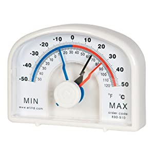 Grand thermom tre min max cadran id al pour serre - Grand thermometre de jardin ...