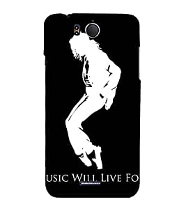 Vizagbeats Michael Jackson Black and White Back Case Cover for Infocus M530