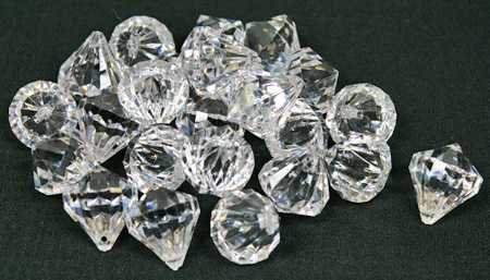 2 Pounds Of 20 Carat Clear Acrylic Diamonds - Big Diamonds Big Bling!