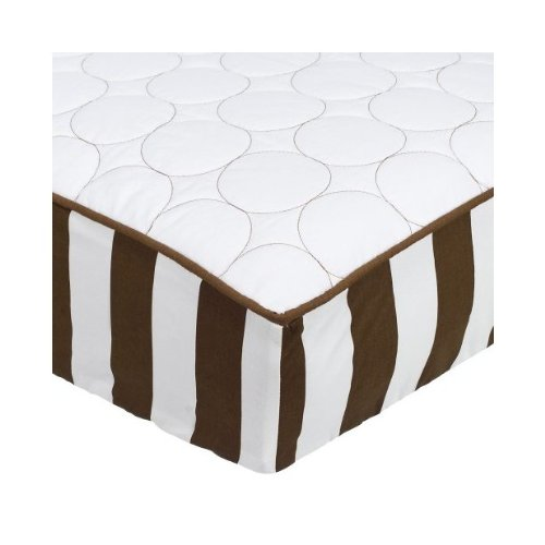 Quilted Circles White/Choc Changing Pad Cover