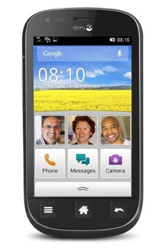 """Doro Liberto 810 Smartphone mit 4"""" (10,16 cm) Touchscreen (einfache und leicht verständliche Benutzeroberfläche)"""