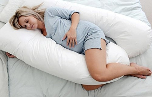 U Shaped- Premium Contoured Body Pregnancy Pillow With Zippered Cover - Exclusively By Blowout Bedding Rn# 142035 front-671772