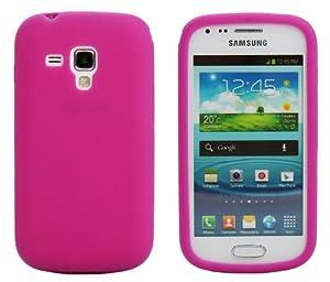 Luxburg® Housse Etui Coque Samsung Galaxy S Duos silicone case TPU pink / rose