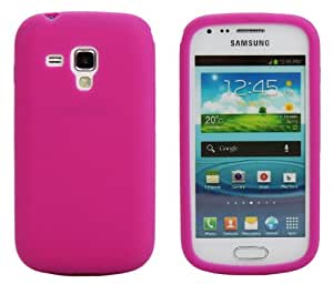 Luxburg® Housse Etui Coque Samsung Galaxy S Duos silicone case TPU pink / rose