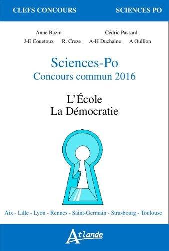 Sciences-Po concours commun : La famille, la mondialisation