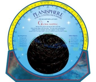 Planisphere Star & Constellation Finder, Star Map & Star Chart (Astronomy, 1)