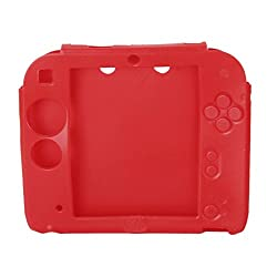 Imported Soft Silicone Protective Case Skin Cover for Nintendo 2DS Red