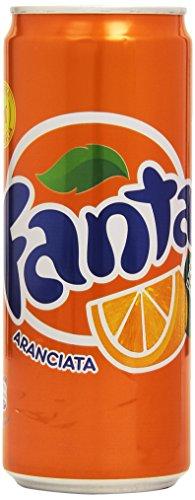 Fanta - Bevanda analcolica, Al succo di Arancia, 330 ml