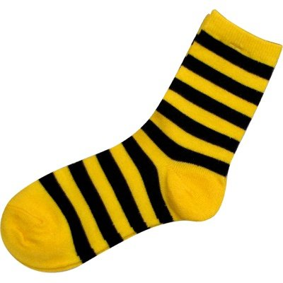 Youth Black And Gold Striped Socks - Size: 7-9.5