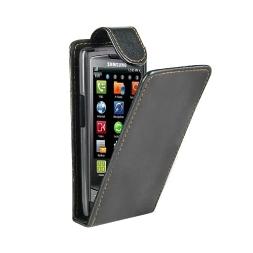 Leather Flip Case Cover for Samsung Wave S8500