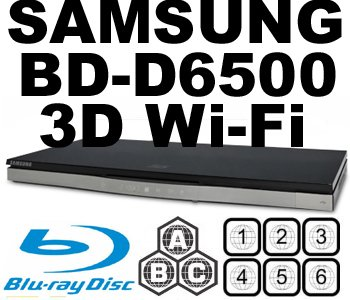 SAMSUNG 3D CODEFREE BD-D6500 Wi-Fi MultiZone Region Code Free DVD 012345678 PAL/NTSC Blu Ray Zone A/B/C. DivX XviD AVI and MKV Playback and Support. 100~240V 50/60Hz comes with EU  &  UK plugs (Free HDMi Cable)