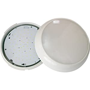 15w Led Decorative Wall/ceiling Mounted Light Fitting C/w White Bezel by Hi-Spec