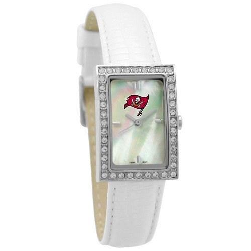 Tampa Bay Buccaneers Ladies Allure Watch White Leather Strap at Amazon.com