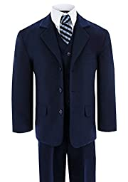 Gino Boys G230 Navy Blue Suit Set From Baby to Teens (18 Months)