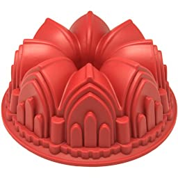 Freshware CB-506RD Silicone Cathedral Bundt Cake Mold