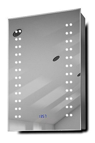 Balta-Clock-LED-Bathroom-Mirrored-Cabinet-With-Demister-Pad-Sensor-Shaver-k382