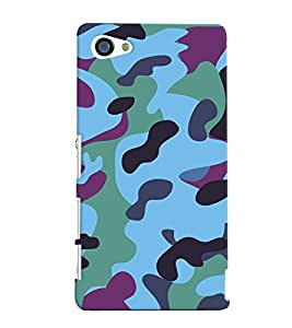 Fuson Millitary Pattern Back Case Cover for SONY XPERIA Z5 COMPACT - D3687
