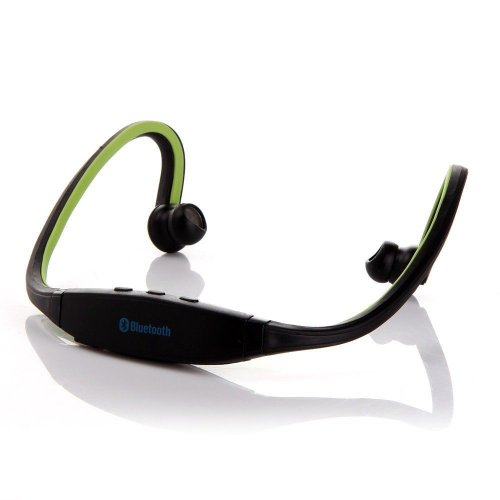 Dazone Green Wireless Bluetooth Headphones Headset Sports Hands-Free Stereo Earphone For Iphone 5S, Iphone 5, Iphone 4S, Iphone 5, Ipad 4, Ipad Mini, Ipod, Nokia Lumia 920 Samsung Galaxy S3 I9300, Galaxy S4 I9500, Note 3 N9005, Note 2 N7100, Sony Xperia Z