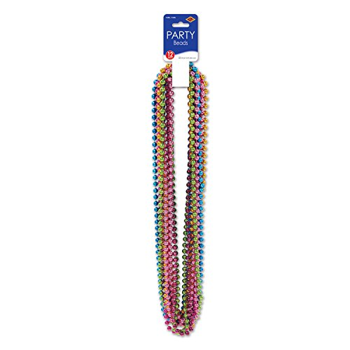 Party Beads - Small Round (asstd C/LG/M/O/P/T)    (12/Card)