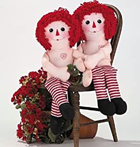 Raggedy Ann and Andy Dolls Fabric Panel by Daisy Kingdom