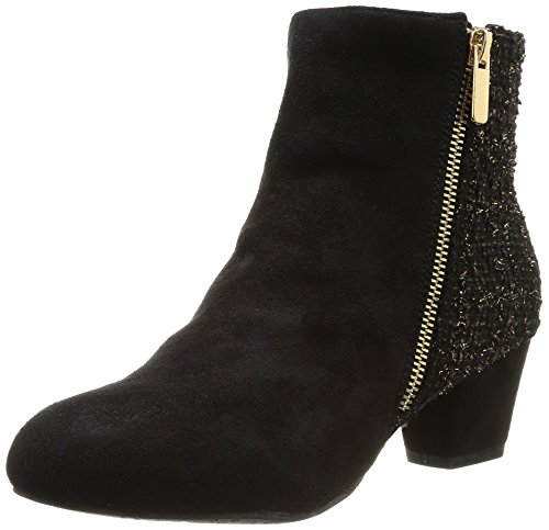 Chocolate Schubar - Stivali, Donna, Nero (Noir (Tweed/Black)), 36