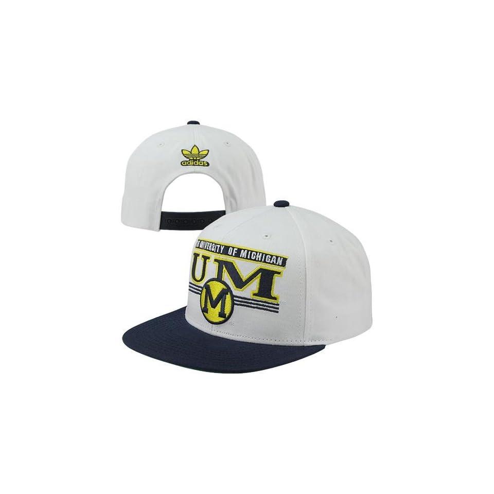 064fa6f8ec8 Michigan Wolverine hat adidas Michigan Wolverines Underlined Wordmark Snapback  Hat White