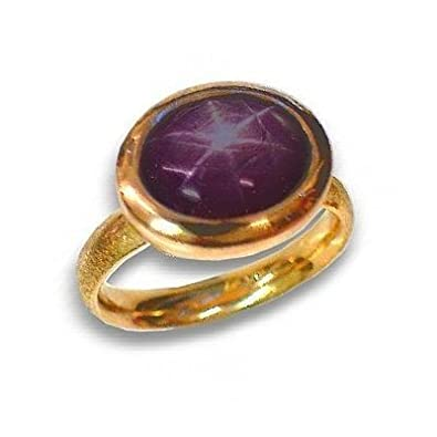 Star Ruby Ring Band 14 K Rose Gold