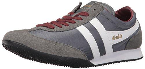 Gola Men's Wasp Fashion Sneaker, Grey/White/Burgundy, 9 UK/10 M US