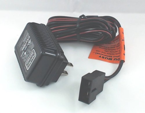 Power Wheels battery charger, 6 volt, 4AH, for blue battery.