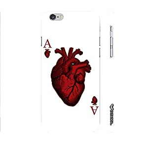 Apple IPhone 6 Plus Ace of Hearts designer mobile hard shell case by Enthopia