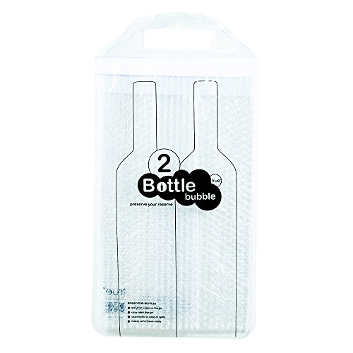 True Fabrications Bubbled Wine Or Champagne Bottle Protector With Adhesive Strip To Prevent Spills For Travel, Shipping, Storage - Holds 2 Bottles front-296524