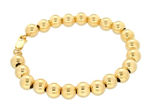 Silver 3M Gold Plated 8mm Ball Bracelet 7.13cm