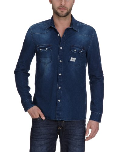 Hilfiger Denim Men's 1957816734 Casual Shirt Blue (931 Dasher Ink Dark) 50