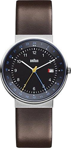 Braun  BN0142BKBRG - Reloj de cuarzo para hombre, con correa de cuero, color marrón