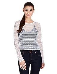 Anaphora Women's Body Blouse Shirt (56030_White_Small)