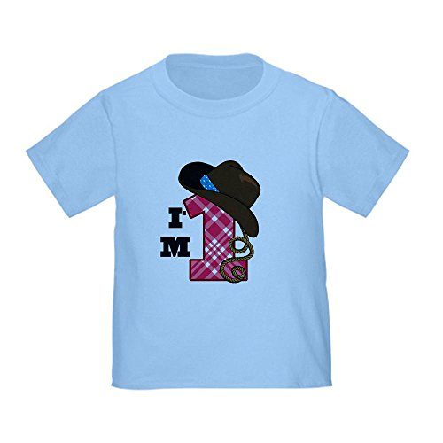 Cafepress 1 Year Old Cowboy Toddler T-Shirt - 2T Baby Blue