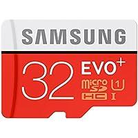 Samsung EVO Plus 32GB microSD Card, Red/Grey with adapter