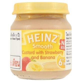 Heinz Smooth Strawberry & Banana Flavour Custard 110G front-808312