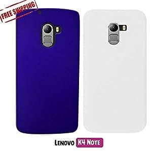 For Lenovo K4 Note, Lenovo VIBE K4 Note[COMBO OFFER]: Unistuff™ Matte Finish Hard Case Back Cover for Lenovo K4 Note,Lenovo VIBE K4 Note [SLIM FIT][FREE SHIPPING] (Purple, White)